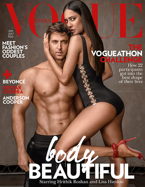 Hrithik Roshan and Lisa Haydon gracing in the cover of vogue 1