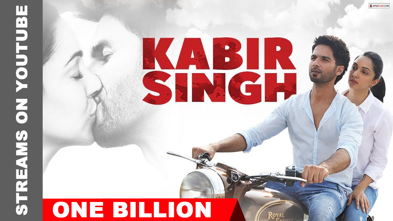 Kabir Singh crosses a billion streams on youtube
